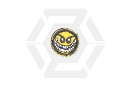 "EB Velcro Patch ""Crazy Smiley"""