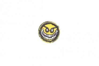 "EB Velcro Patch ""Crazy Smiley"""