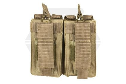 NCS VISM MOLLE Double Mag Pouch for M4 with Pistol Mag Pouches (Tan) © Copyright Zero One Airsoft