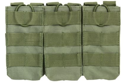 NCS VISM MOLLE Triple Mag Pouch for M4 (Olive) © Copyright Zero One Airsoft