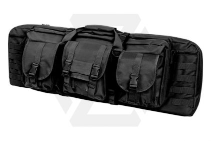 "NCS VISM MOLLE Double Rifle Case 36"" with Side Pouches (Black) © Copyright Zero One Airsoft"