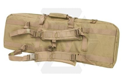"NCS VISM MOLLE Double Rifle Case 36"" with Side Pouches (Tan)"