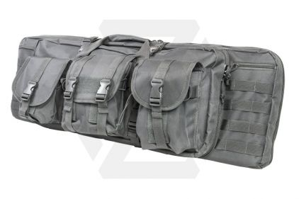 "NCS VISM MOLLE Double Rifle Case 36"" with Side Pouches (Grey)"