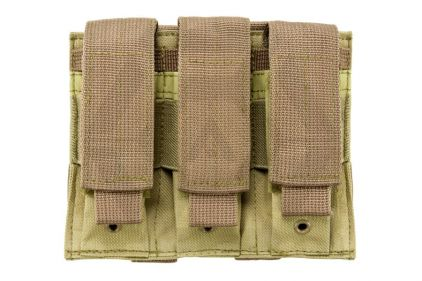 NCS VISM MOLLE Pistol Mag Pouch Triple (Tan) © Copyright Zero One Airsoft