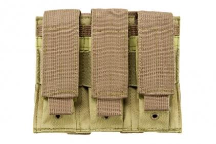NCS VISM MOLLE Pistol Mag Pouch Triple (Tan)
