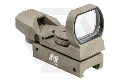 NCS Multi Reticule Dual Red/Green Illuminating Reflex Sight (Tan) © Copyright Zero One Airsoft