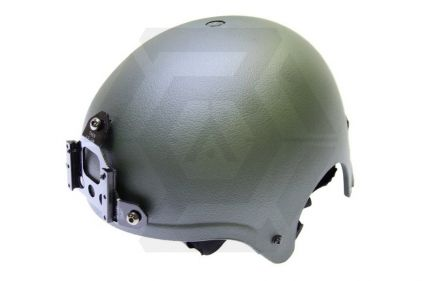 Mil-Force IBH Helmet with NVG Mount (Olive)