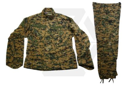 Mil-Force BDU Shirt & Trousers Set (Digital Woodland) - Size Medium