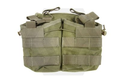 TMC MOLLE Quick Release Quadruple Mag Pouch (Khaki) © Copyright Zero One Airsoft