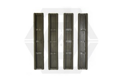 APS KAC Rubber Rail Covers for 20mm Rail (Foliage Green)