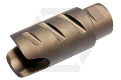G&G Amplifier Flash Hider 14mm CCW Firehawk Style (Tan)