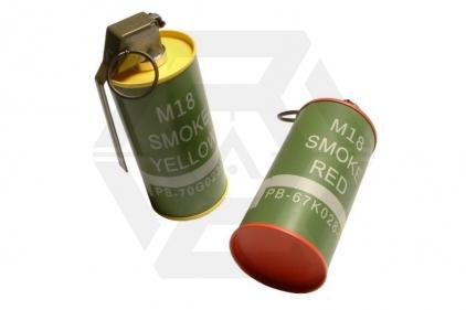 G&G M18 Smoke Grenade Replica Set of 2 (Speedloader Bottle) © Copyright Zero One Airsoft