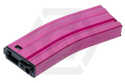 G&G AEG Mag for M4 450rds (Pink) © Copyright Zero One Airsoft