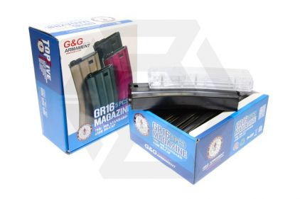 G&G AEG Mag for M4 79rds Box of 5 (Black) with Speedloader © Copyright Zero One Airsoft