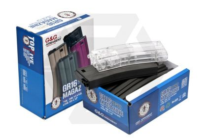 G&G AEG Mag for M4 450rds Box of 5 (Grey) with Speedloader © Copyright Zero One Airsoft