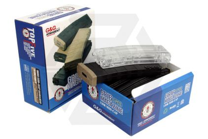 G&G AEG Mag for M4 120rds Box of 5 (Black/Tan) with Speedloader © Copyright Zero One Airsoft