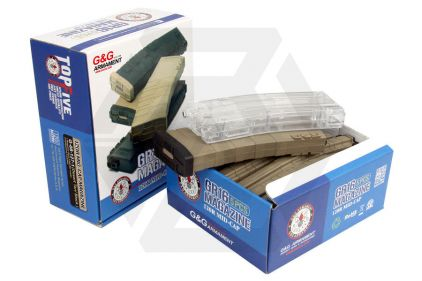 G&G AEG Mag for M4 120rds Box of 5 (Tan/Black) with Speedloader © Copyright Zero One Airsoft
