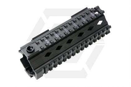 G&G M4 20mm RIS Handguard 100Y Style (Black) © Copyright Zero One Airsoft