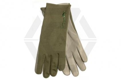 G-Tac Nomex Flight Gloves (Olive) - Size Large