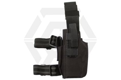 Guarder Left Handed Pistol Thigh Holster (Black)