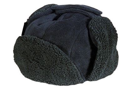 Mil-Com Sherpa Fleece Hat (Black) - Size Extra Large