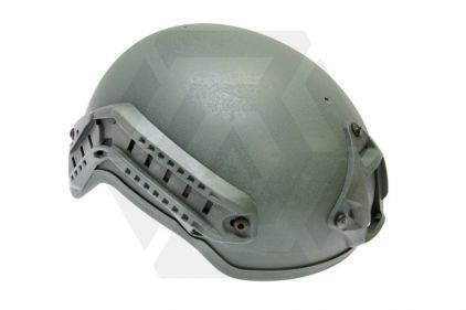EB MICH 2001 Helmet with NVG Mount and Rails (Olive)