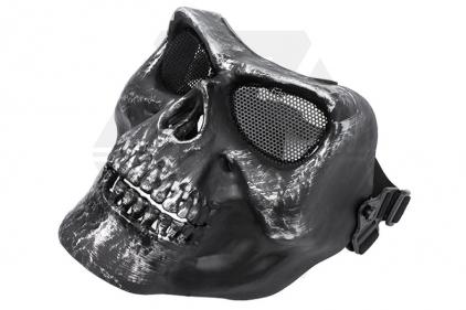 EB M02 Plastic Skull Face Mask (Silver Black)