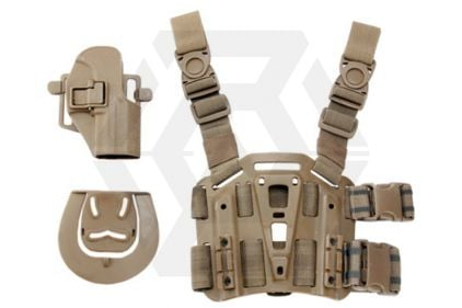Weekend Warrior CQC Holster & Leg Platform for USG Compact (Coyote Tan)