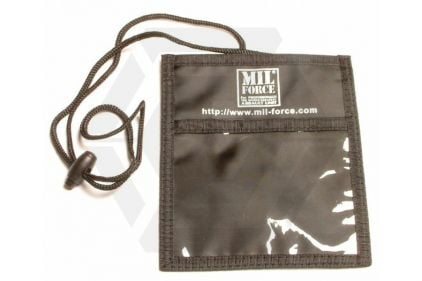 Mil-Force Neck ID/Event Wallet (Black) © Copyright Zero One Airsoft