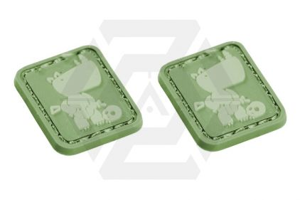 "EB Velcro ""Rhino"" Mini Patch - Pack of Two © Copyright Zero One Airsoft"