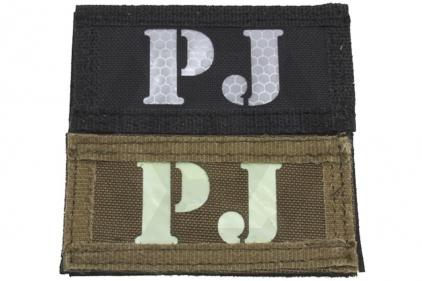 "Weekend Warrior Velcro Patch Glow & Reflective ""PJ"""