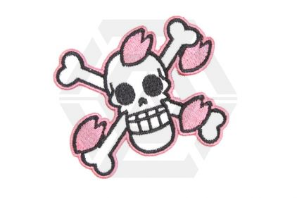 "Weekend Warrior Velcro Patch ""Pink Skull"""