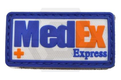 "Weekend Warrior Velcro PVC Patch ""MedEx"" (Blue)"