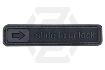 "Weekend Warrior Velcro PVC Patch ""iPhone Slide to Unlock"" (Black)"