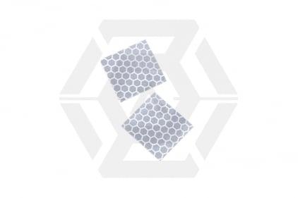 King Arms Reflective Velcro Helmet Tabs (Silver)