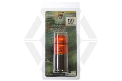 King Arms 40mm Gas Grenade 120rds M433 HEDP