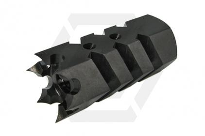 King Arms Flash Suppressor 14mm CCW Tromix Shark