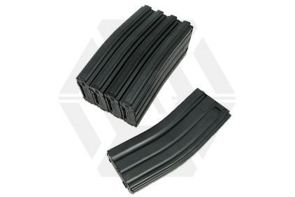 King Arms AEG Mag for M4 450rds (Black) Box Set of 5