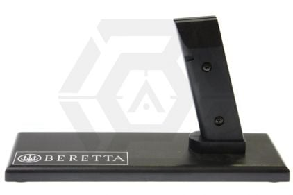 King Arms Pistol Display Stand - Beretta (Black) (for all M92F) © Copyright Zero One Airsoft