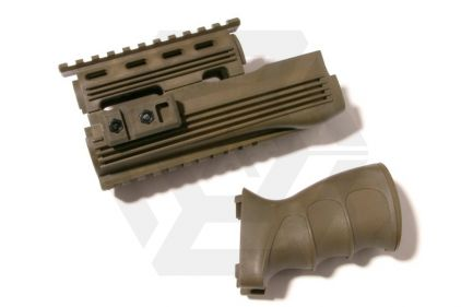King Arms Tactical Handguard Set for AK47S (Olive)