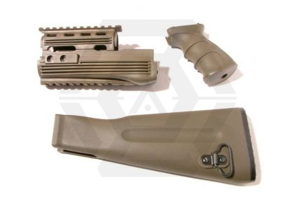 King Arms Tactical Handguard Set for AK47 (Olive)