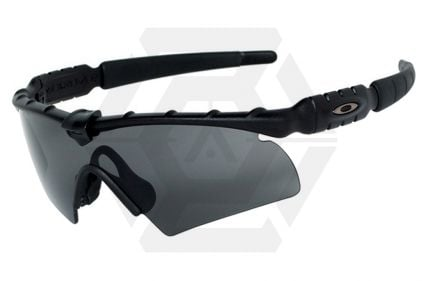 Oakley Tactical Glasses SI Ballistic M Frame 2.0 with Grey Lens (Matt Black) © Copyright Zero One Airsoft