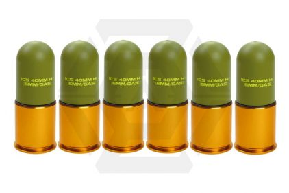 ICS 40mm Plastic Grenade 60rds Set of 6