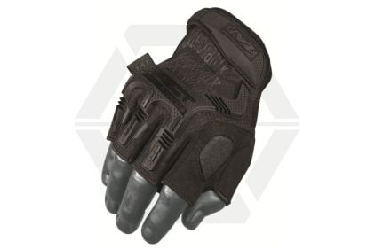 Mechanix M-Pact Fingerless Gloves (Black) - Size Large © Copyright Zero One Airsoft