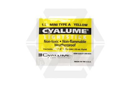"Cyalume 1.5"" 4 Hour Mini Lightstick (Yellow)"
