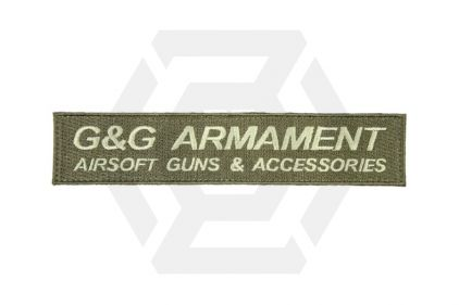 G&G Velcro Patch Long (Olive) © Copyright Zero One Airsoft