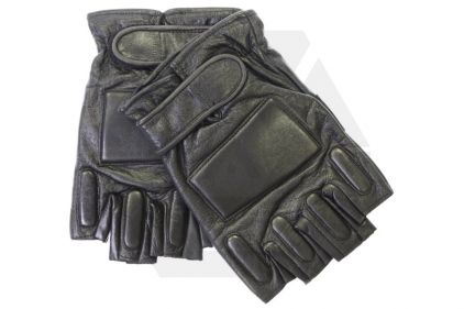 Mil-Force Half Finger SWAT Gloves (Black) - Size Extra Large © Copyright Zero One Airsoft