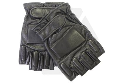 Mil-Force Half Finger SWAT Gloves (Black) - Size Extra Large