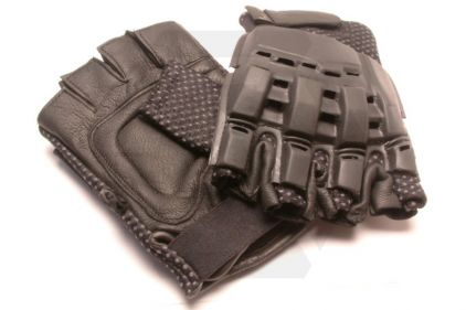 Mil-Force Half Finger RPD Gloves (Black) - Size Large