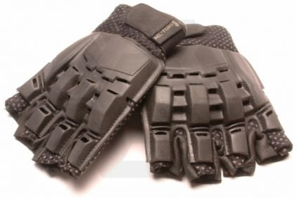 Mil-Force Half Finger RPD Gloves (Black) - Size Extra Large © Copyright Zero One Airsoft